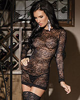 Stretch Lace Mini Dress
