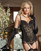 Corset with Metallic Lace