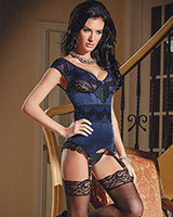 DARK DESIRES Bustier with Suspenders