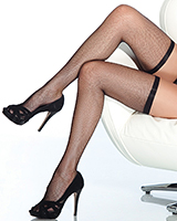 Fishnet Stockings with Elastic Top