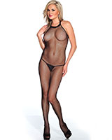 Fishnet Bodystocking with Open Crotch
