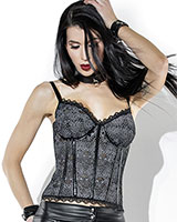 ROYAL Lace and Wetlook Bustier