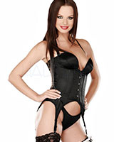 Corset with Neckholder and Suspenders