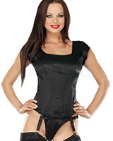 Satin Corset Top with Suspenders