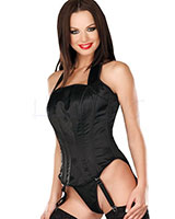 Satin Corset with Neckholder and Suspenders