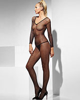 Fishnet Catsuit with Open Crotch