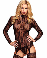 Lace Garter Top with G-String