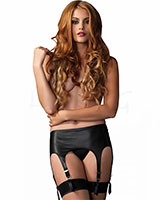 Retro Garter Belt with 6 Garters