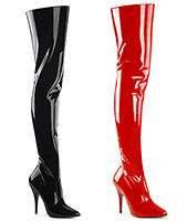 "Patent Leather Overknees - 5"" Heel"