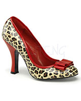"Leopard Pumps with Bow - 4"" Heel"