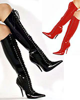 Ladies' Laced Patent Leather Boots