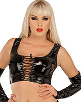Gloss PVC Bustier Top Laced