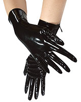 Gloss PVC Gloves with Zipper