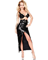 Long Gloss PVC Skirt