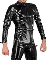 Gloss PVC Body Suit with Front 2 Way Zipper Thru Crotch