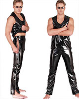 Gloss PVC Pants with Side Zippers