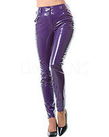 Gloss PVC Purple Jeans