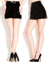 Gloss PVC Black Barely There Skirt