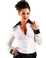 Gloss PVC White with Black Miss Education Shirt