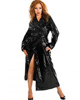Gloss PVC Black Trench Coat