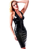 Gloss PVC Penelope Pencil Dresss - up to Size 6XL