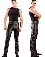 Leatherette Jeans