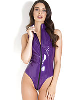 Purple Gloss PVC Body with 3 Way Zipper - up to 6XL