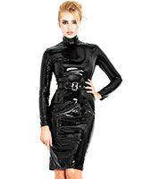 Gloss PVC Black Regulation Dress - up to Size 6XL