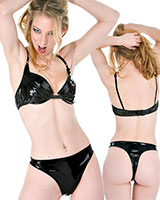 Black Gloss PVC Knickers