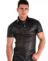 Leatherette Polo-Shirt