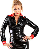 Gloss PVC Black and Red Scorpio Seductress Shirt