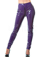 Purple Gloss PVC Zip Through Jeans
