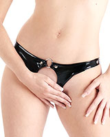 Gloss PVC Black Kinky Knickers