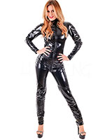 4-Way High Elastisc Gloss PVC Catsuit with 3 Way Zip