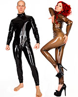 Latex Catsuit with 2 Way Zipper