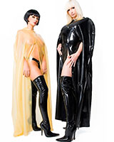 Long Unisex Latex Cape with Hood