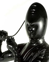 Inflatable Latex Hood with Nose Holes