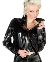 Glued Latex Ladies Jacket