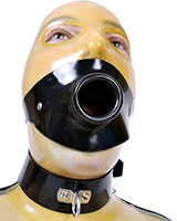 Strap On Rubber Piss Gag