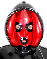Inflatable Latex Hood with Closable Front