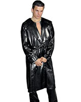 Mens' Sewed Latex Trenchcoat