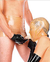 Blow-Job Latexslip mit Haube