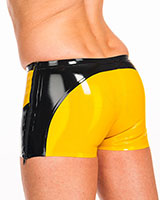 Latex Shorts with Side Zippers