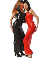 Long Anatomical Moulded Latex Dress