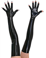 Anatomical Long Latex Gloves with Free Fingertips