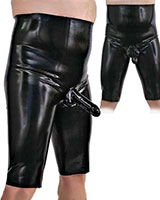 Anatomical High Waisted Latex Bermuda with Sheath and Options