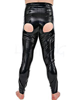 Anatomical Latex Pants with Open Buttocks and Anal options