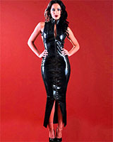 Glued Rubber Cosmopolitan Dress