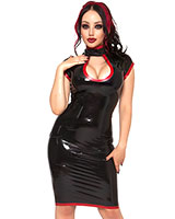Zodiac Keyhole Latex Dress