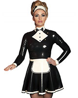 Glued Latex Margot Maids Dress